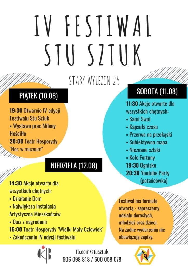 plakat Festiwal Stu Sztuk