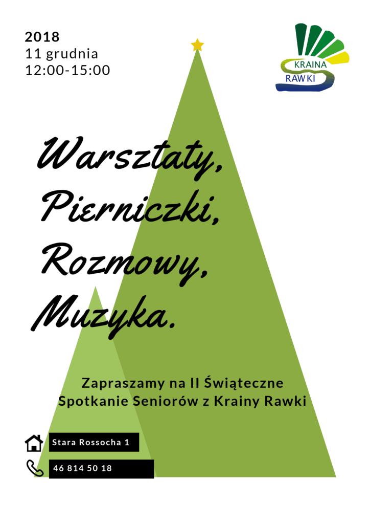 Plakat Świąteczne Spotkanie Seniorów z Krainy Rawki