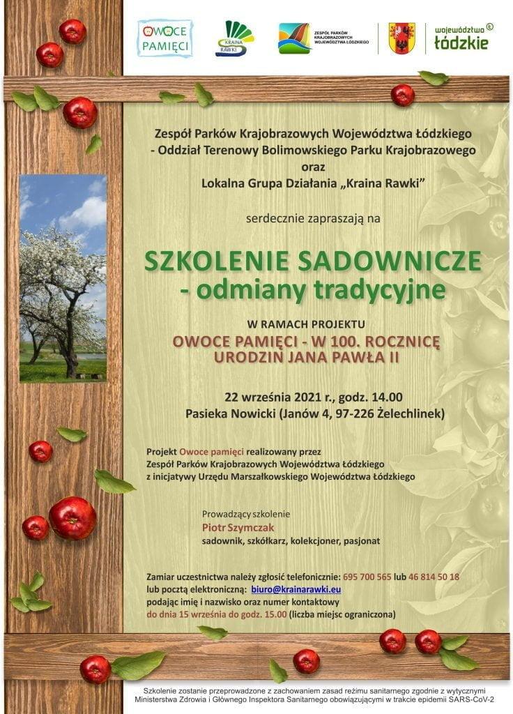 Plakat szkolenie sady tradycyjne